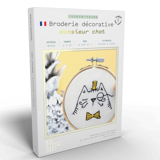 French'Kits - Broderie décorative - Monsieur Chat