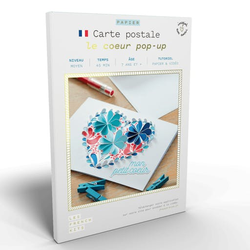 French'Kits - Cartes Postales - Le cœur popup
