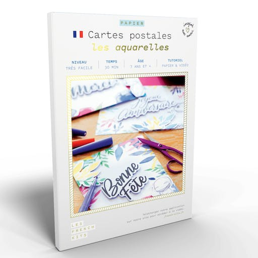 French'Kits - Cartes Postales - Les aquarelles