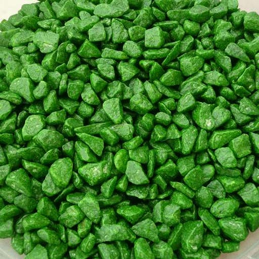 Graviers verts pomme