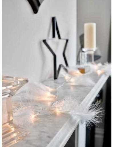 Guirlande lumineuse plumes blanches 20 leds