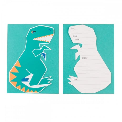 INVITATIONS DINOSAURES PAR 8