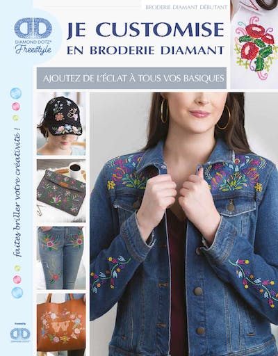 Livre : Je customise en broderie diamant