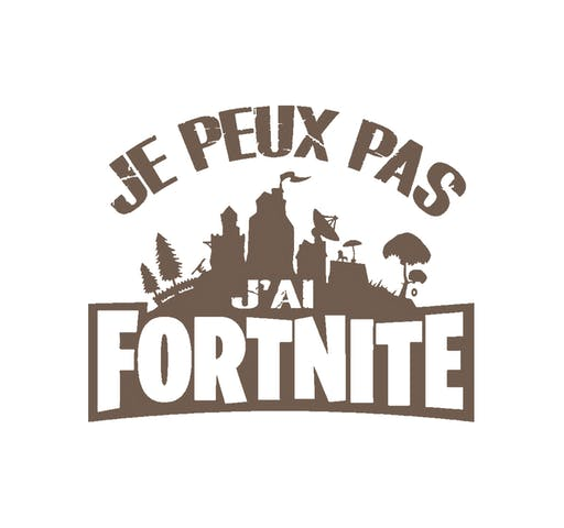 Je peux pas J'ai Fortnite Motif Thermocollant