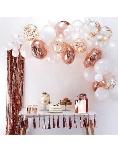 Kit Arche Ballons Rose Gold