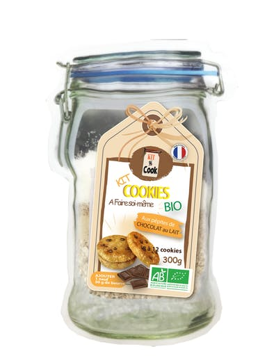 Kit cookies chocolat au lait BIO Kit and Cook