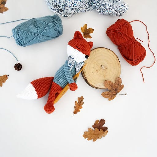 Kit Crochet DIY - Hubert le Renard doudou