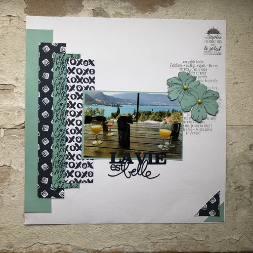 Kit Scrapbooking Page Vacances