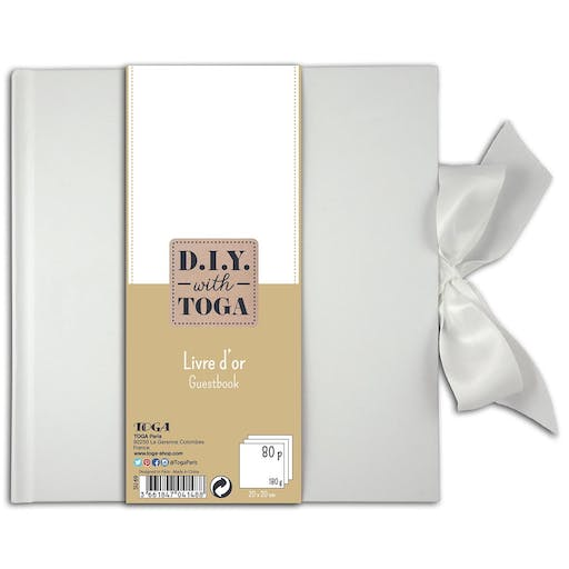 Livre d'or 80 pages blanches - 20x20 cm