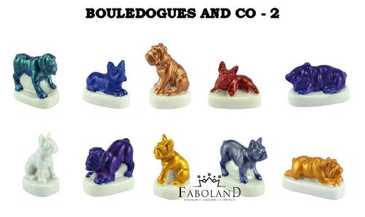 Lot de fèves : Bouledogues and Co. 2