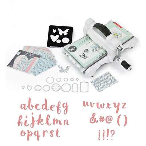 Machine de découpe Big Shot Sizzix + Matrice Alphabet minuscule