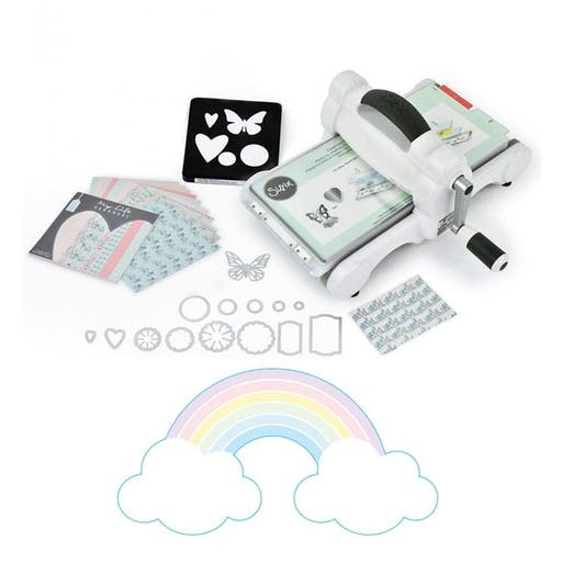 Machine de découpe Big Shot Sizzix + Matrice Arc-en-ciel