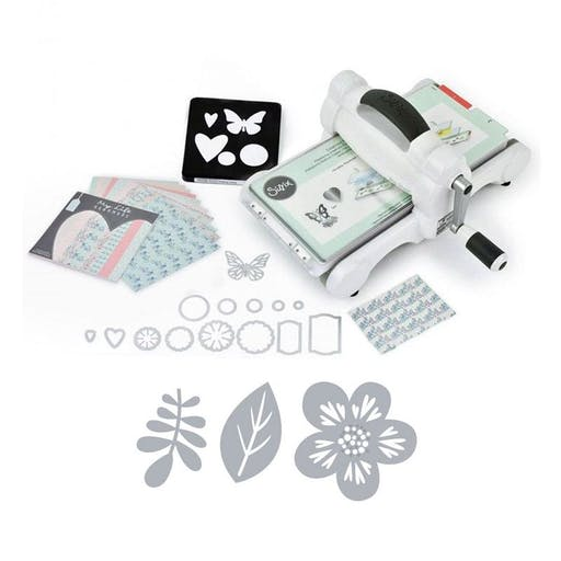 Machine de découpe Big Shot Sizzix + Matrice Feuilles Grafic Time