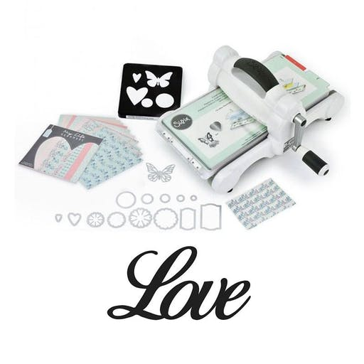 Machine de découpe Big Shot Sizzix + Matrice Love