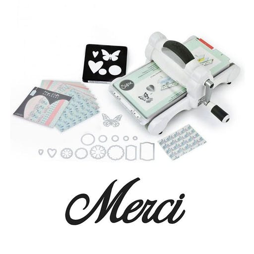 Machine de découpe Big Shot Sizzix + Matrice Merci