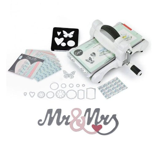 Machine de découpe Big Shot Sizzix + Matrice Mr & Mrs