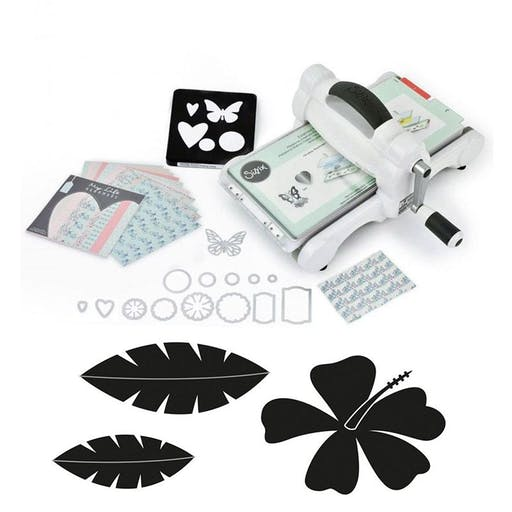 Machine de découpe Big Shot Sizzix + Matrices Feuilles No stress
