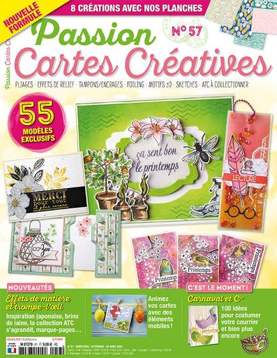 Magazine - Passion Cartes Créatives: ça sent bon le printemps !