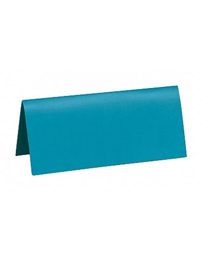 Marque-place rectangle turquoise