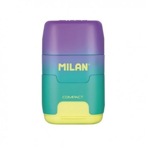 Milan taille-crayon+gomme Compact Sunset jaune BYM10424