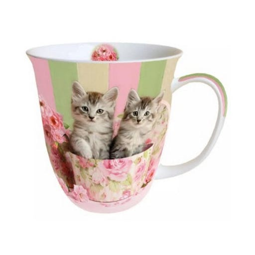 Mug, tasse porcelaine AMBIENTE 10.5 cm 0.4 l CATS IN BOX