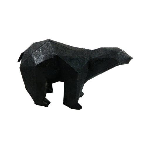 origami ours noir