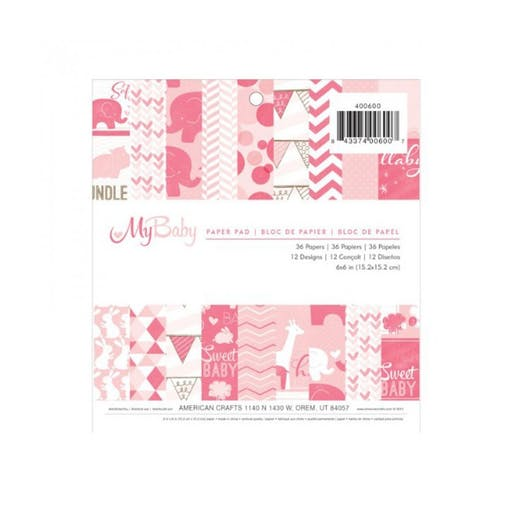Paper pad My baby Girl d'American Craft (15.2 x 15.2)
