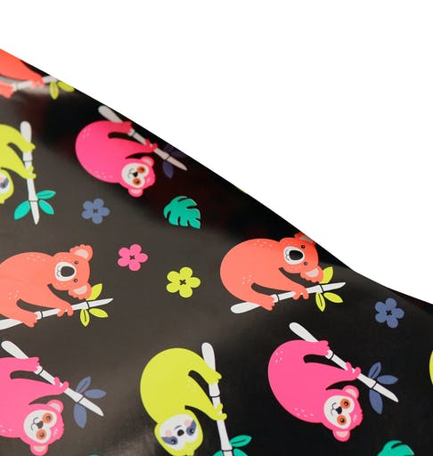 Papier cadeau fluo Jungle 2 x 0,70m - MegaCrea DIY