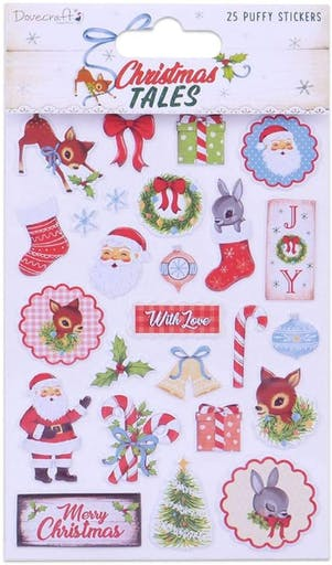 Planche de stickers Noël - Christmas tales puffy - Dovecraft