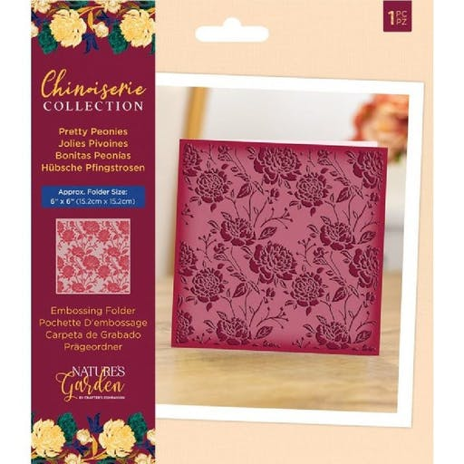 Plaque d'embossage Chinoiserie Collection - Pretty Peonies de Crafter's Companion