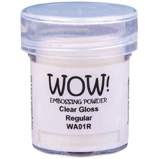 Poudre à embosser WOW! Embossing Powder Clear de Wow! (15ml) Couleur - Clear Gloss regular WA01R