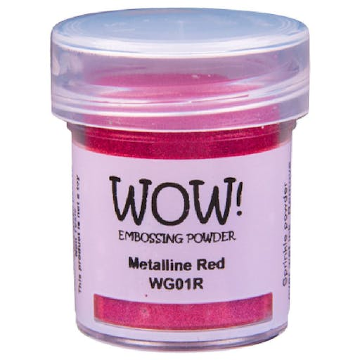Poudre à embosser WOW! Metallines de Wow! (15ml) Couleur - Metallines Red WG01R