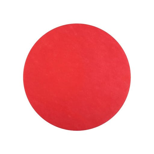 Set de table rouge rond x50