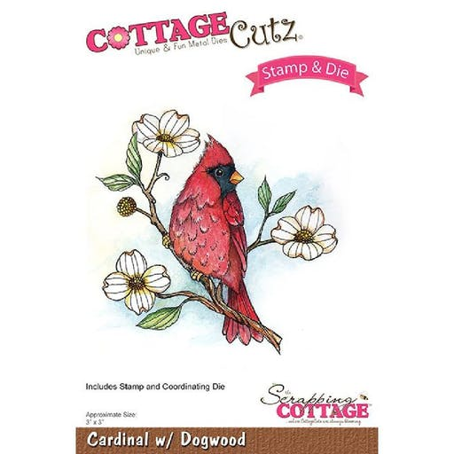 Set Die et tampon Cardinal with Dogwood de Scrapping Cottage