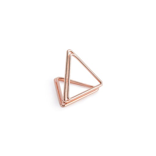Support marque place triangle rose gold x10