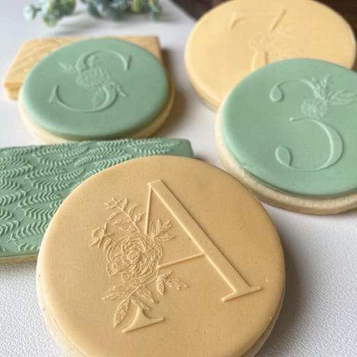 Tampon biscuit lettre