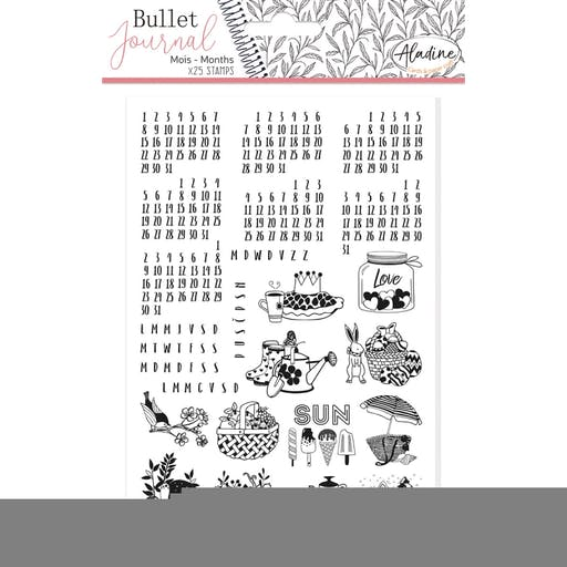 Tampon bullet journal Calendrier