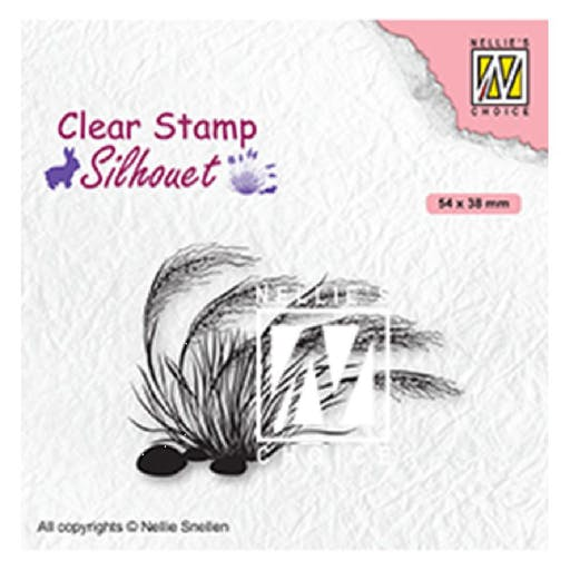 Tampon transparent Silhouette Blooming grass 3 de Nellie's Choice