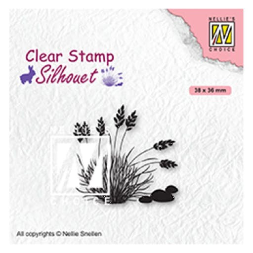 Tampon transparent Silhouette Blooming grass 4 de Nellie's Choice